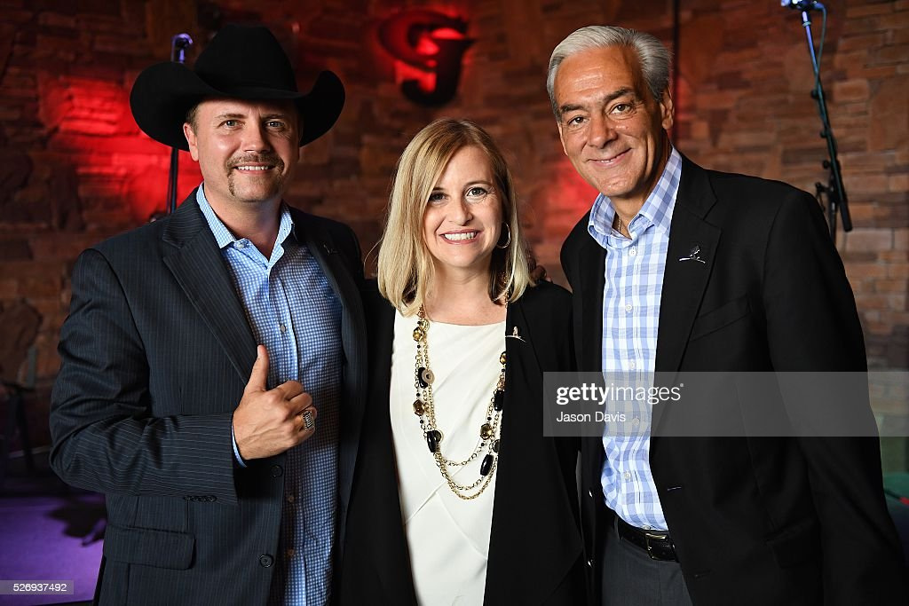 Singer/Songwriter and longtime St. Jude supporter John Rich, Nashville Mayor Megan Barry and Rick Shadyac, President and CEO of ALSAC, the fundraising and awareness organization for St. Jude Children's Research Hospital, gather at the George Jones Museum to celebrate top fundraising St. Jude Heroes for the 17th annual St. Jude Rock 'n' Roll Nashville Marathon. on May 1, 2016 in Nashville, Tennessee.