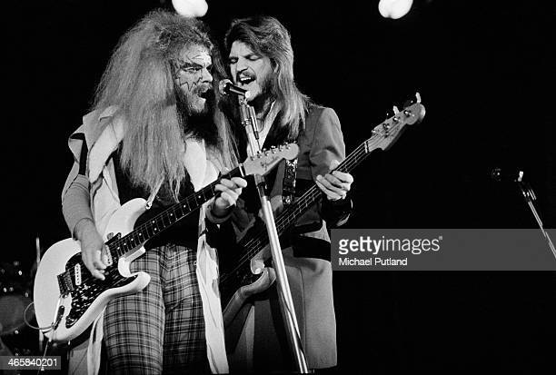 Singersongwriter and musician Roy Wood and Rick Price performing with English pop group Wizzard 27th February 1974