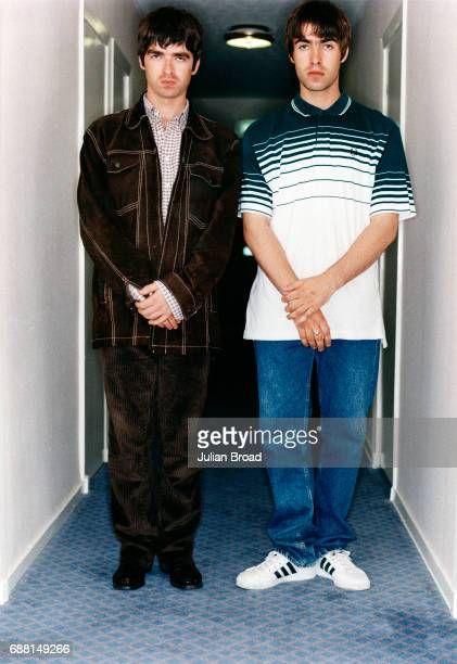 Singersongwriter and musicians Noel and Liam Gallagher are photographed in London England