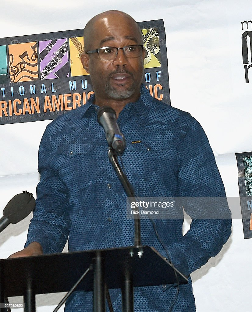 Singer/Songwriter and NMAAM National Chairperson <a gi-track='captionPersonalityLinkClicked' href=/galleries/search?phrase=Darius+Rucker&family=editorial&specificpeople=215161 ng-click='$event.stopPropagation()'>Darius Rucker</a> attend NMAAM National Chairs And Fundraising Progress Press Conference at Nashville Vistor Center on May 2, 2016 in Nashville, Tennessee.
