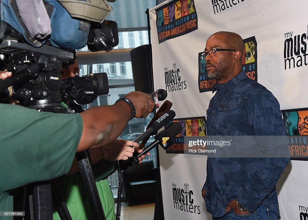 Singer/Songwriter and NMAAM National Chairperson Darius Rucker attends NMAAM National Chairs And Fundraising Progress Press Confrence at Nashville Vistor Center on May 2, 2016 in Nashville, Tennessee.