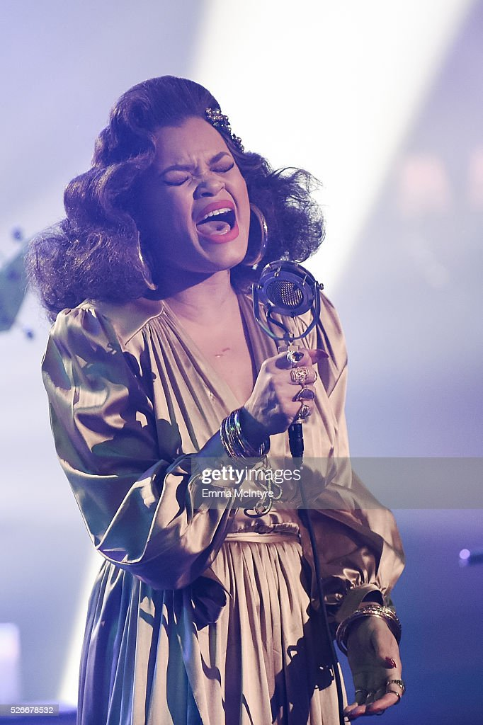 Singer/songwriter <a gi-track='captionPersonalityLinkClicked' href=/galleries/search?phrase=Andra+Day&family=editorial&specificpeople=10196811 ng-click='$event.stopPropagation()'>Andra Day</a> performs onstage for AT&T Audience Network at Red Studios on April 30, 2016 in Los Angeles, California.