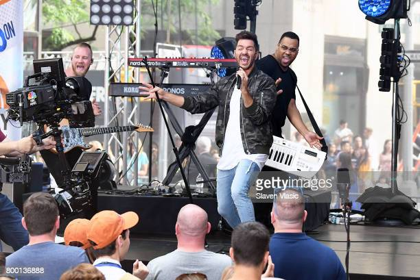 Singer/songwriter Andy Grammer performs on NBC's 'Today' at Rockefeller Plaza on June 23 2017 in New York City