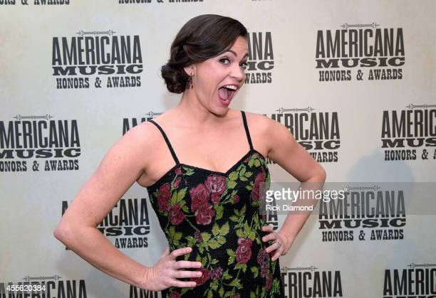 Singersongwriter Angaleena Presley attends the 13th annual Americana Music Association Honors and Awards Show at the Ryman Auditorium on September 17...