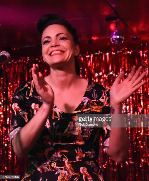 Singer/Songwriter Angaleena Presley performs during her 'Wrangled' Album Release event at Springwater on April 19 2017 in Nashville Tennessee