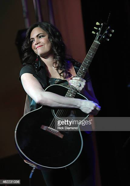 Singer/Songwriter Angaleena Presley performs during Nashville Sunday Night featuring Angaleena Presley at 3rd Lindsley on January 25 2015 in...