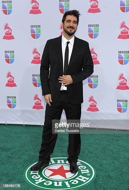 Singer/songwriter Antonio Orozco arrives at the 13th annual Latin GRAMMY Awards held at the Mandalay Bay Events Center on November 15 2012 in Las...