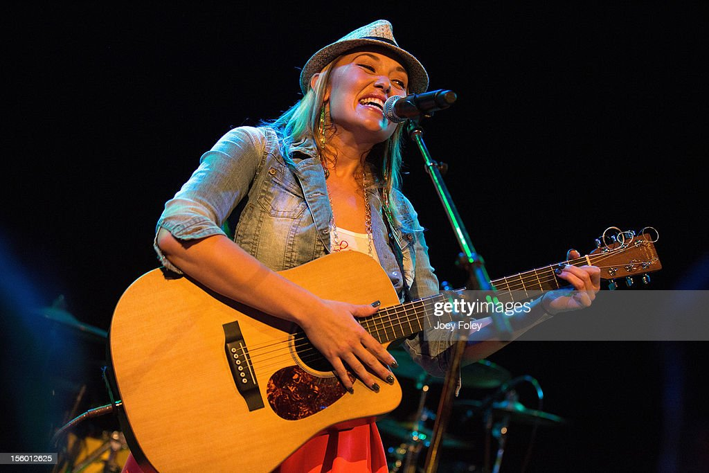 Singer/songwriter Anuhea Jenkins of Anuhea performs at The Vogue on November 10, 2012 in Indianapolis, Indiana.