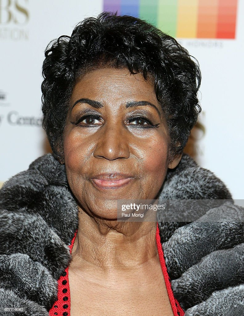 Singer/songwriter Aretha Franklin arrives at the 39th Annual Kennedy Center Honors at The Kennedy Center on December 4, 2016 in Washington, DC.