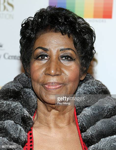 Singer/songwriter Aretha Franklin arrives at the 39th Annual Kennedy Center Honors at The Kennedy Center on December 4 2016 in Washington DC