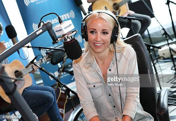 SingerSongwriter Ashley Monroe visits the Morning Show with Storme Warren on SiriusXM's The Highway channel at SiriusXM Studios on June 1 2015 in...