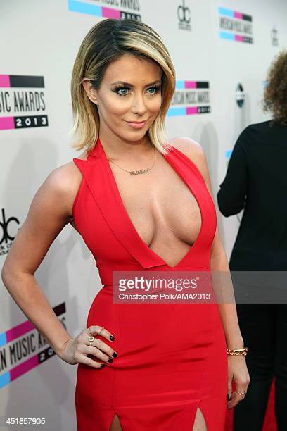 Singer/songwriter Aubrey O'Day attends the 2013 American Music Awards at Nokia Theatre LA Live on November 24 2013 in Los Angeles California