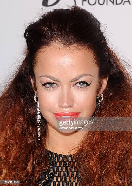 Singersongwriter Aura Dione attends the Novak Djokovic Foundation New York dinner at Capitale on September 10 2013 in New York City