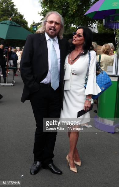 Singersongwriter Barry Gibb and his wife Linda arrive on day eleven of the Wimbledon Championships at The All England Lawn Tennis and Croquet Club...