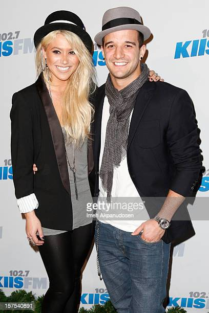 Singer/songwriter BC Jean and dancer Mark Ballas attend KIIS FM's 2012 Jingle Ball at Nokia Theatre LA Live on December 3 2012 in Los Angeles...