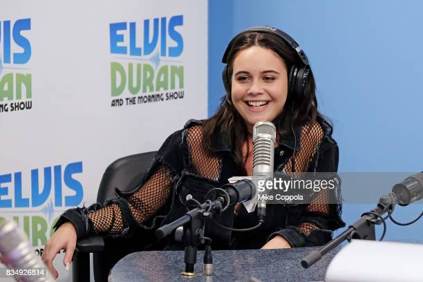 Singer/songwriter Bea Miller is interviewed during her visit to the visits 'The Elvis Duran Z100 Morning Show' at Z100 Studio on August 18 2017 in...