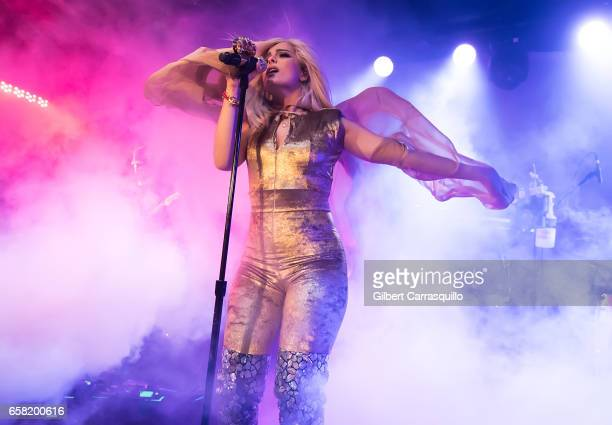 Singersongwriter Bebe Rexha performs during 'All Your Fault' Headlining Tour at Underground Arts on March 26 2017 in Philadelphia Pennsylvania