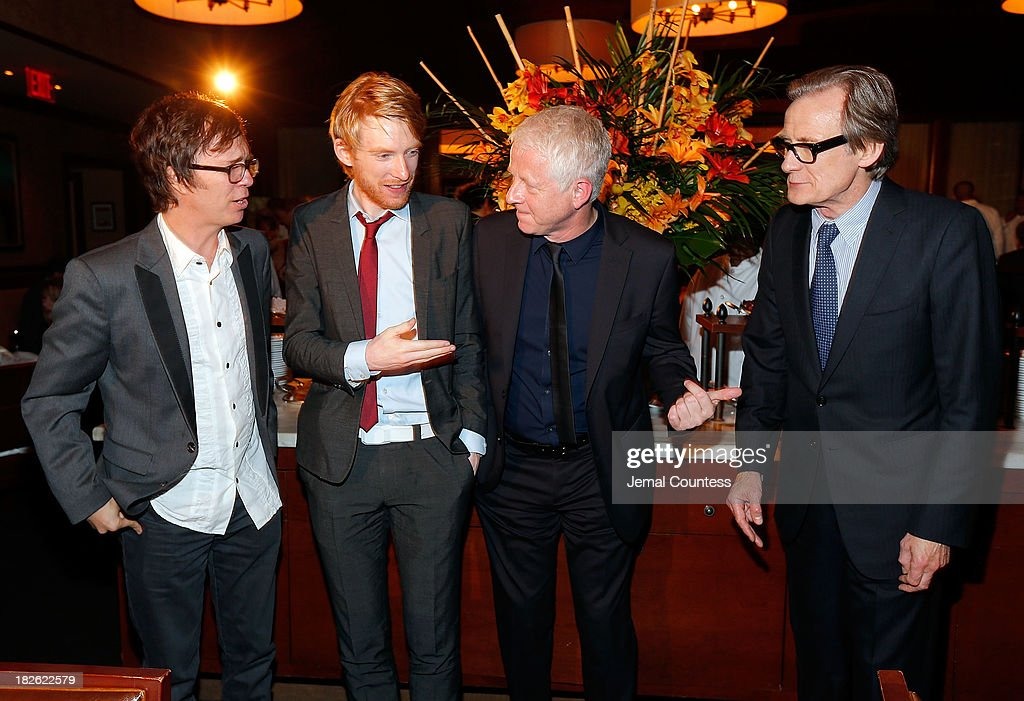 Singer-songwriter Ben Folds, actor Domhnall Gleeson, filmmaker Richard Curtis and actor Bill Nighy attend the after party for the 'About Time' & 'Jimmy