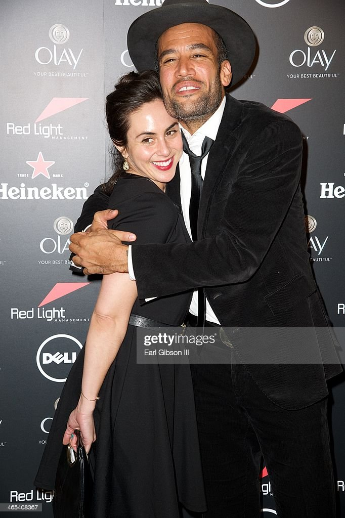Singer/Songwriter Ben Harper and his girlfriend attend The Grammy Awards Red Light Management After Party at Sky Bar, Mondrian Hotel on January 26, 2014 in West Hollywood, California.