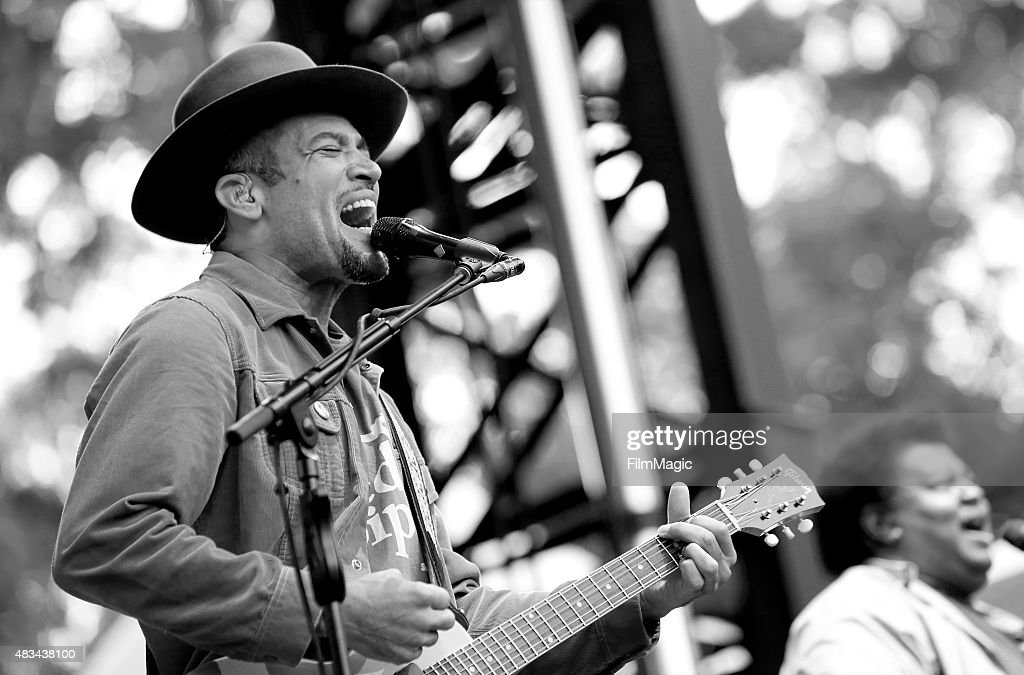 Singer/songwriter Ben Harper of Ben Harper the Innocent Criminals performs at the Sutro Stage during day 2 of the 2015 Outside Lands Music And Arts...