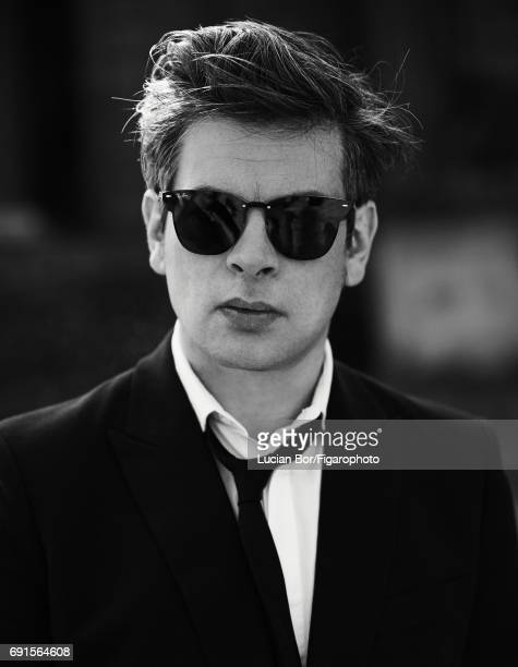 Singer/songwriter Benjamin Biolay is photographed for Madame Figaro on April 5 2017 in Rome Italy Jacket shirt and tie sunglasses PUBLISHED IMAGE...