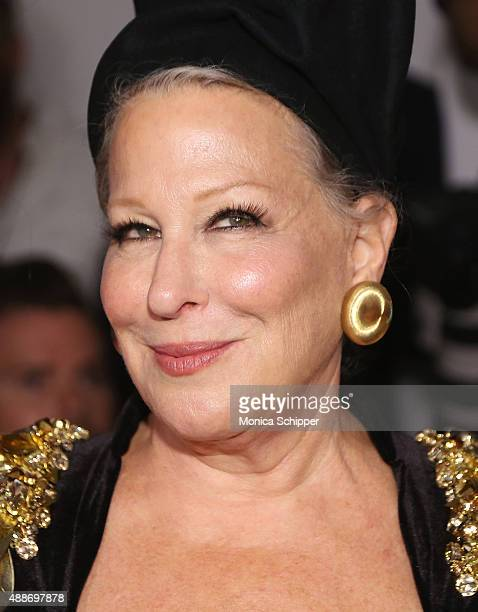 Singersongwriter Bette Midler attends The Blonds fashion show during Spring 2016 MADE Fashion Week at Milk Studios on September 16 2015 in New York...