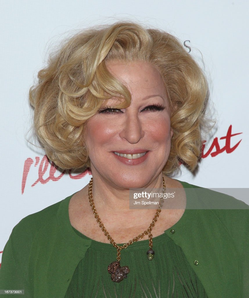 Singer-songwriter <a gi-track='captionPersonalityLinkClicked' href=/galleries/search?phrase=Bette+Midler&family=editorial&specificpeople=201551 ng-click='$event.stopPropagation()'>Bette Midler</a> attends the 'I'll Eat You Last' Broadway Opening Night at the Booth Theatre on April 24, 2013 in New York City.
