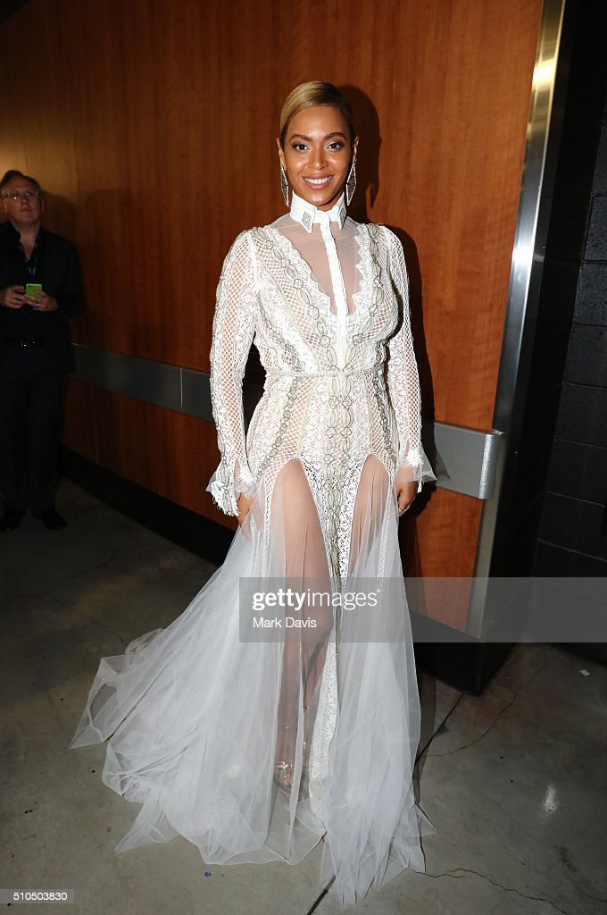 Singer/songwriter Beyoncé attends The 58th GRAMMY Awards at Staples Center on February 15, 2016 in Los Angeles, California.