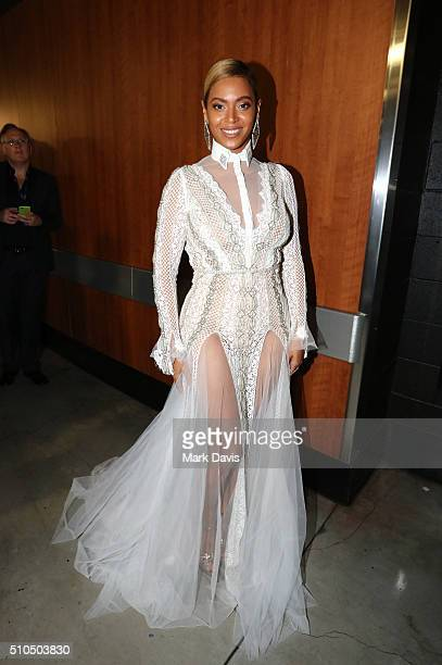 Singer/songwriter Beyoncé attends The 58th GRAMMY Awards at Staples Center on February 15 2016 in Los Angeles California