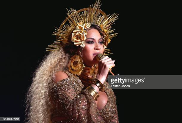 Singersongwriter Beyonce performs onstage during The 59th GRAMMY Awards at STAPLES Center on February 12 2017 in Los Angeles California