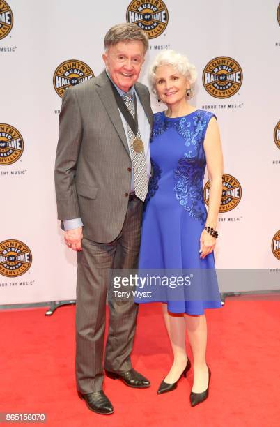 Singersongwriter Bill Anderson and guest attend the Country Music Hall of Fame and Museum Medallion Ceremony to celebrate 2017 hall of fame inductees...