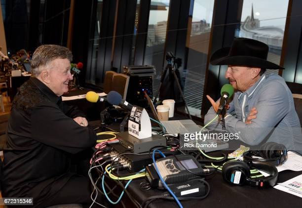 Singersongwriter Bill Anderson is interviewed during radio remotes at the Brad Paisley LOVE AND WAR Album Launch and 2017 Sarah Cannon Band Against...