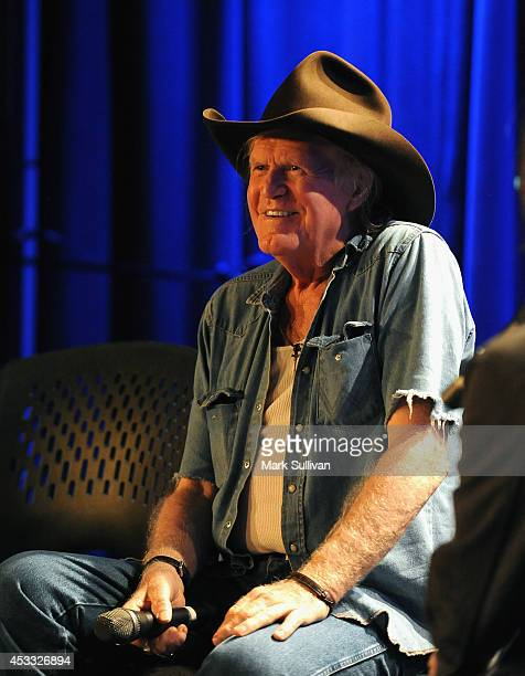 Singer/songwriter Billy Joe Shaver onstage during The Drop Billy Joe Shaver at The GRAMMY Museum on August 7 2014 in Los Angeles California
