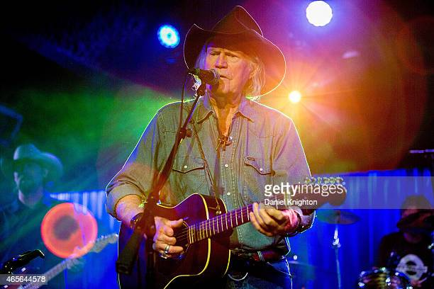 Singer/songwriter Billy Joe Shaver performs on stage at Belly Up Tavern on March 8 2015 in Solana Beach California