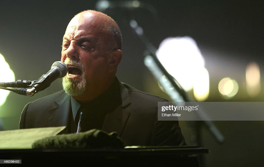 Singer/songwriter Billy Joel performs at the MGM Grand Garden Arena on June 7, 2014 in Las Vegas, Nevada.