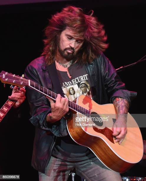 Singer/Songwriter Billy Ray Cyrus performs during NSAI 50 Yearsof Songs at Ryman Auditorium on September 20 2017 in Nashville Tennessee