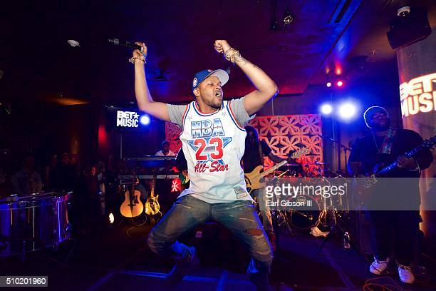 Singersongwriter BJ The Chicago Kid performs at the BET Music Matters Grammy Showcase at W Hollywood on February 13 2016 in Hollywood California
