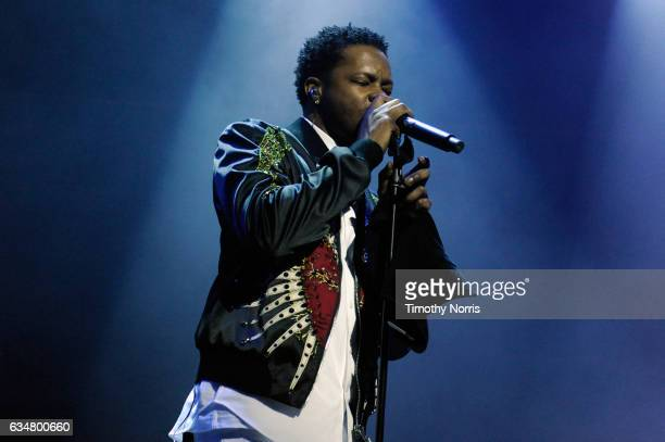 Singersongwriter BJ The Chicago Kid performs onstage at Sir Lucian Grainge's 2017 Artist Showcase presented by American Airlines and Citi at Ace...
