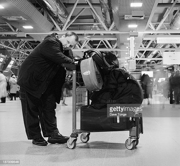 Singersongwriter Black Francis aka Frank Black formerly of American rock group The Pixies at Heathrow Airport London 1993
