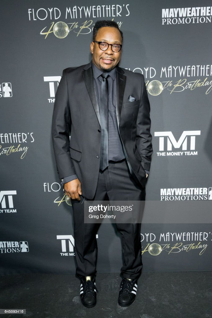 Singer-songwriter Bobby Brown attends Floyd Mayweather's 40th Birthday Celebration on February 25, 2017 in Los Angeles, California.