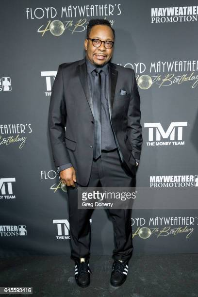 Singersongwriter Bobby Brown attends Floyd Mayweather's 40th Birthday Celebration on February 25 2017 in Los Angeles California
