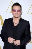 Singer/songwriter Bono attends the 86th Academy Awards nominee luncheon at The Beverly Hilton Hotel on February 10 2014 in Beverly Hills California