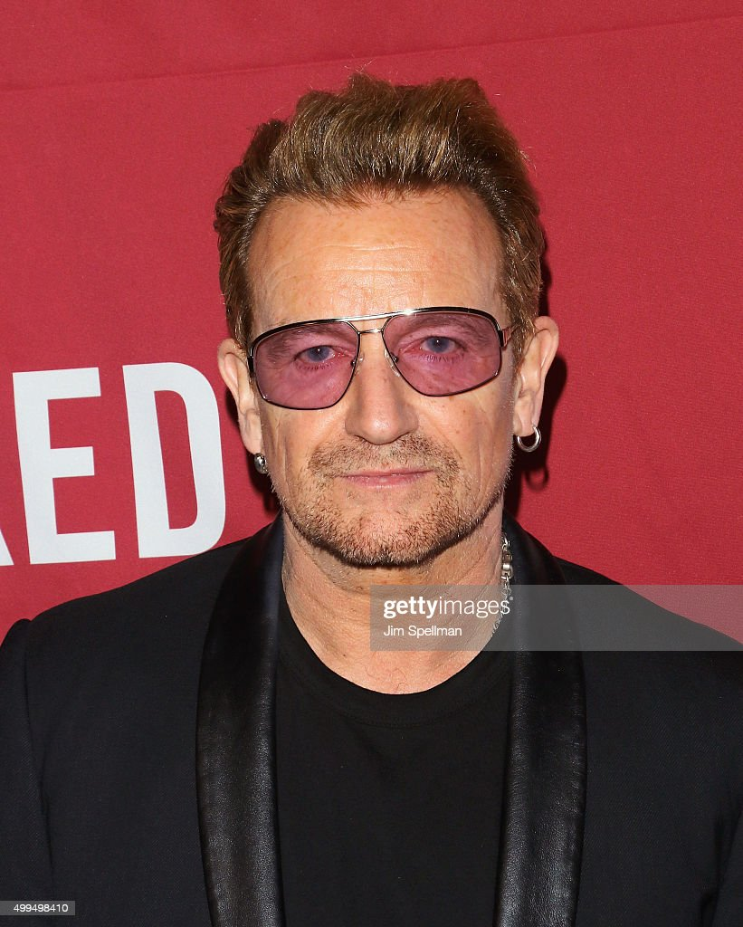 Singer/songwriter <a gi-track='captionPersonalityLinkClicked' href=/galleries/search?phrase=Bono+-+Singer&family=editorial&specificpeople=167279 ng-click='$event.stopPropagation()'>Bono</a> attends the ONE And (RED)'s 'It Always Seems Impossible Until It Is Done' at Carnegie Hall on December 1, 2015 in New York City.