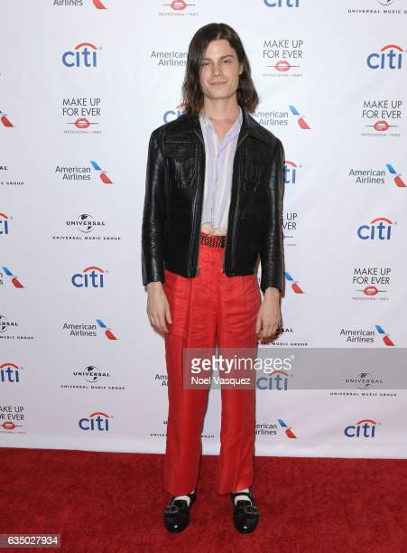 Singersongwriter Borns arrives at Universal Music Group 2017 Grammy after party presented by American Airlines and Citi at the Ace Hotel on February...