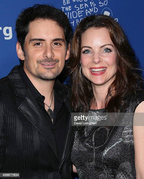 Singer/songwriter Brad Paisley and wife actress Kimberly WilliamsPaisley attend the Children's Defense Fund's 24th Annual Beat the Odds Awards at The...