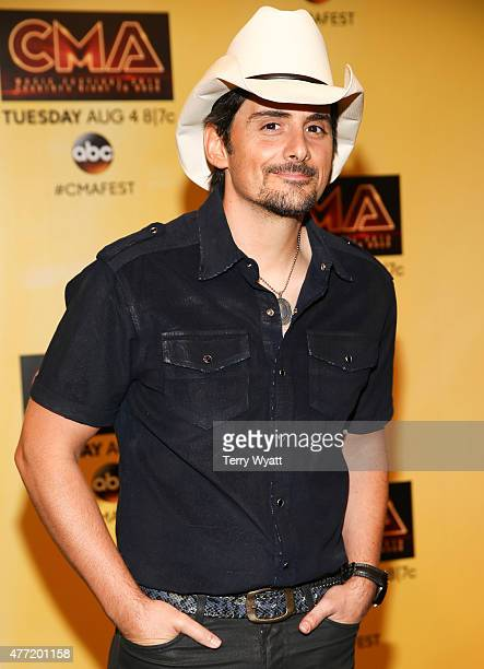 Singersongwriter Brad Paisley attends a preshow press conference during day 4 of the 2015 CMA Festival on June 14 2015 in Nashville Tennessee