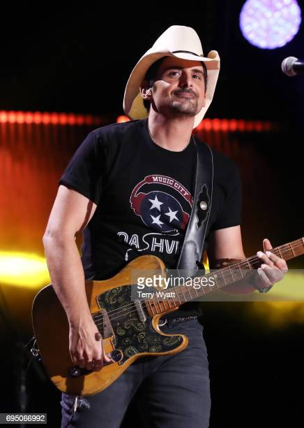 Singersongwriter Brad Paisley performs during day 4 of the 2017 CMA Music Festival on June 11 2017 in Nashville Tennessee