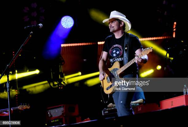 Singersongwriter Brad Paisley performs onstage during day 4 of the 2017 CMA Music Festival on June 11 2017 in Nashville Tennessee