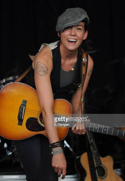 Singer/Songwriter Brandi Carlile performs during day 3 of the Bonnaroo Music and Arts Festival at the Bonnaroo Festival Grounds on June 12 2010 in...