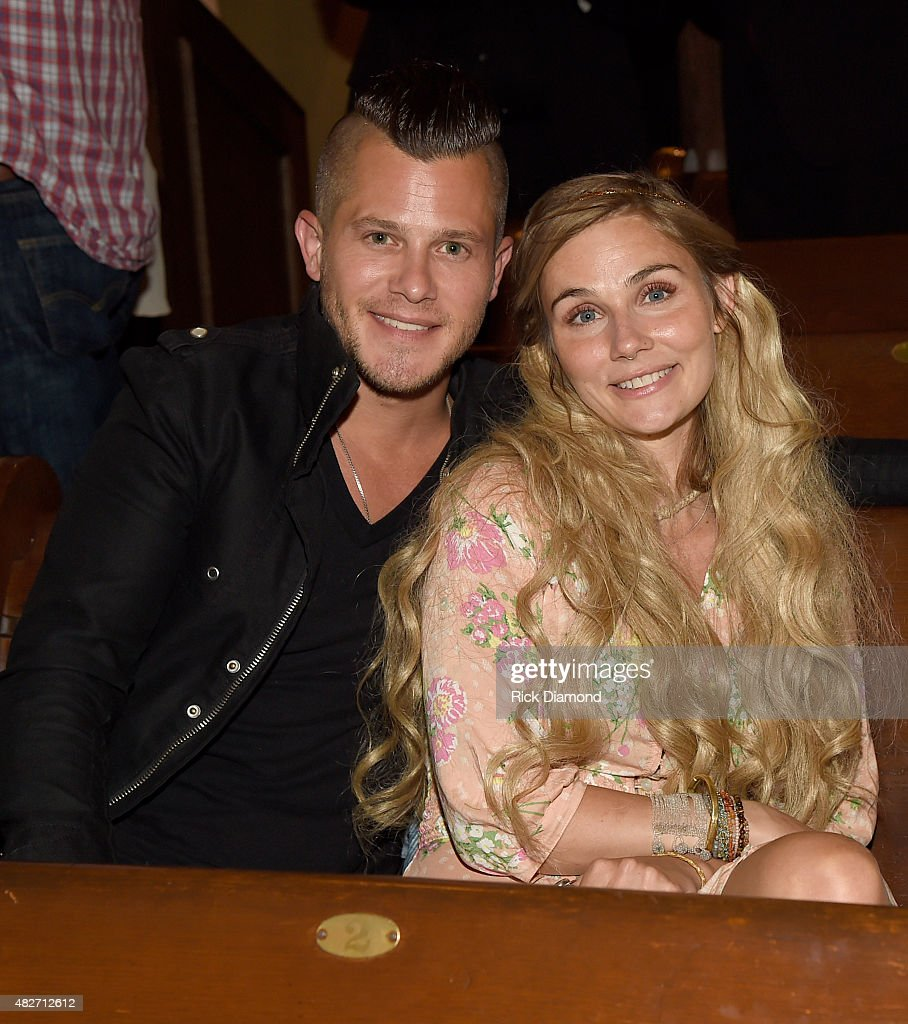 Singer/Songwriter Brandon Robert Young and ABC TV Nashville cast member Clare Bowen attend Dolly Parton Pure Simple Benefiting The Opry Trust Fund at...